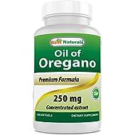 Best Naturals Oregano Oil 250 Mg Softgels, 120Count