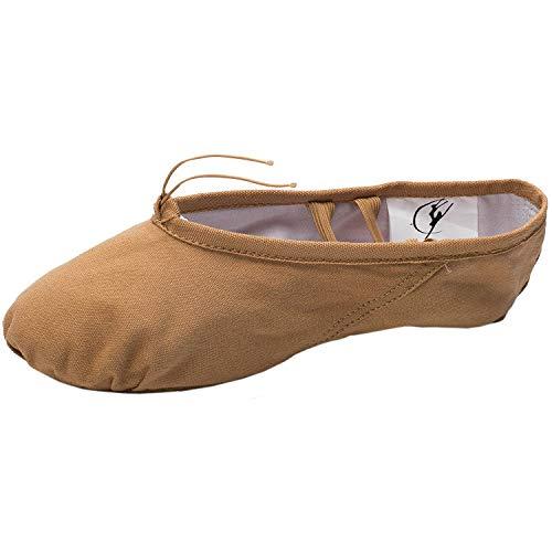 Cpdance Canvas Split Sole Practice Ballet Dancing Shoes Ballet Slipper Yoga Shoes for Children and Adults (US8/UK5.5/EUR39=9.64