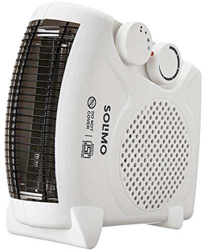 Amazon Brand – Solimo 2000-Watt Room Heater (ISI certified, White colour, Ideal for small to medium room/area)