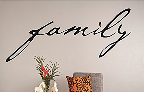 Design with Vinyl RAD 1194 2Family Lettering Text Quote Vinyl Wall Decal 12 x 30 Black