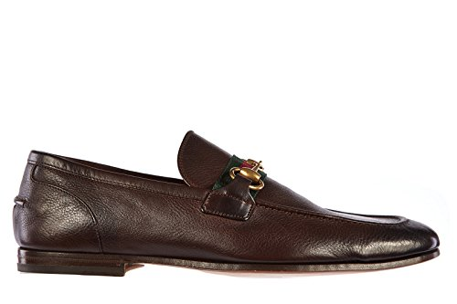 a50c3d7a115 Gucci men s leather loafers moccasins caligola brown - Buy Online in UAE.