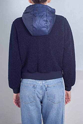 Donna Taglia double sherpa Hilfiger Bomber in face S blu Tommy Pqwf5S8q