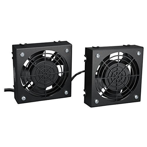 Tripp Lite Wall-Mount Roof Fan Kit, 2 High-Performance Fans, 120V, 210 CFM, 5-15P Plug (SRFANWM) (Tripp Part Lite)