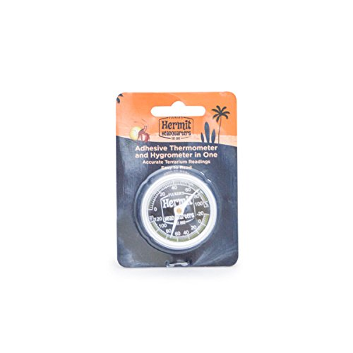 Fluker's Hermit Headquarters Analog Thermometer / Hygrometer ()