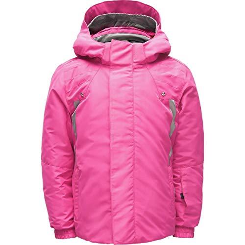 (Spyder Girls' Bitsy Glam Ski Jacket, Taffy Pink/Silver, Size 7)