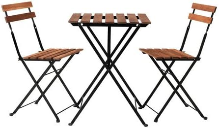 Ikea - Tärnö garden table with 2 chairs Acacia Color Dark Brown ...