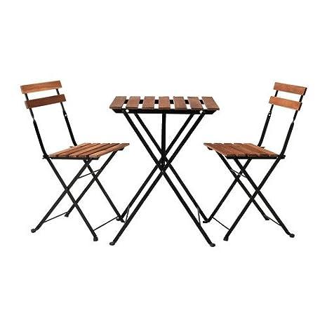 Ikea – Mesa de jardín tärnö con 2 sillas Acacia Color Marrón Oscuro