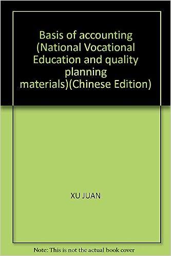 PDF-Ebook-Sammlung herunterladen Basis of accounting (National Vocational Education and quality planning materials)(Chinese Edition) 7512105681 PDF RTF DJVU