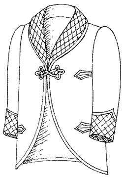 Victorian Mens Suits & Coats 1901-09 Roosevelt Lounging or Smoking Jacket Pattern $20.95 AT vintagedancer.com