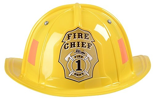 Aeromax Jr. Firefighter Helmet, Yellow, Adjustable Youth Size ()