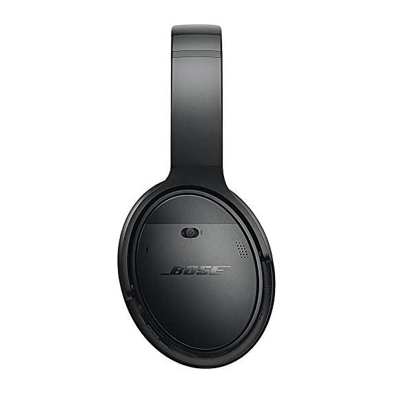 Bose QuietComfort 35 (Series I) Wireless Headphones, Noise Cancelling - Black 3 <p>QuietComfort 35 Wireless Headphones. QuietComfort 35 wireless headphones are engineered with world-class noise cancellation that makes quiet sound quieter and music sound better. Free yourself from wires and connect easily to your devices with Bluetooth and NFC pairing. Volume-optimized EQ gives you balanced audio performance at any volume, while a noise-rejecting dual microphone provides clear calls, even in windy or noisy environments. Voice prompts and intuitive controls make communicating and controlling your music hassle-free. And a lithium-ion battery gives you up to 20 hours of wireless play time per charge. QuietComfort 35 headphones are designed with premium materials that make them lightweight and comfortable for all-day listening. Use the Bose Connect app for a more personalized experience. World-class noise cancellation Bluetooth and NFC pairing Balanced sound at any volume Up to 20-hour battery life per wireless charge Noise-rejecting dual microphone for clear calls Lightweight and comfortable for all-day listening Bose Connect app control QuietComfort 35 wireless headphones are engineered with world-class noise cancellation that makes quiet sound quieter and music sound better Free yourself from wires and connect easily to your devices with Bluetooth and NFC pairing Volume-optimized EQ gives you balanced audio performance at any volume, while a noise-rejecting dual microphone provides clear calls, even in windy or noisy environments Voice prompts and intuitive controls make communicating and controlling your music hassle-free</p>