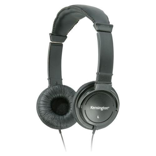 33137 Kensington Hi-fi Stereo Headphone - Black - Wired - 32 Ohm - 20 Hz 20 kHz - Gold Plated - Binaural - Ear-cup - 9 ft Cable