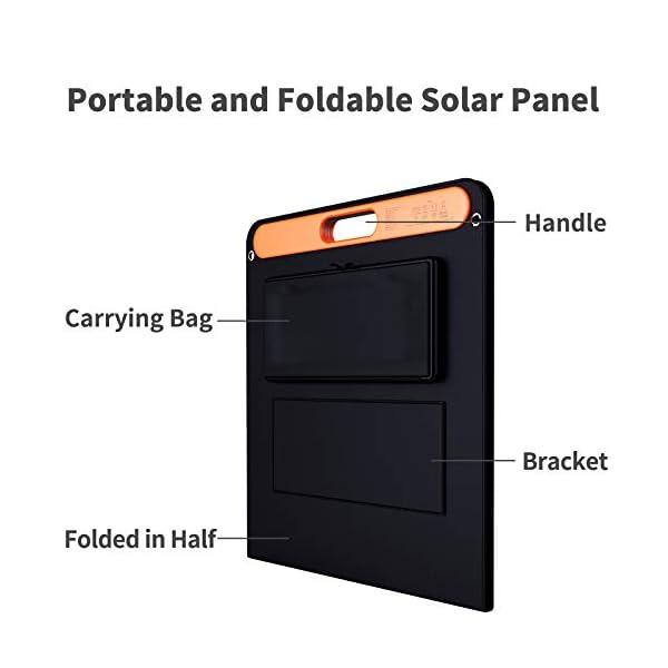 41ITjl%2BgqZL Jackery Faltbares Solarpanel SolarSaga 100 - Solarmodul für Explorer 240/500/1000 Tragbare Powerstation - Solarladegerät…