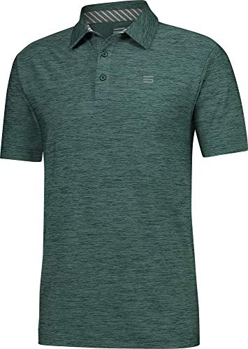- Three Sixty Six Golf Shirts for Men - Dry Fit Short-Sleeve Polo, Athletic Casual Collared T-Shirt