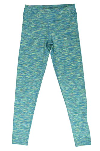 90 Degree By Reflex - Kids Yoga Pants Leggings - Aqua Lime Space Dye M (10)