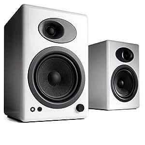 Audio Engine AUEA5W - Altavoces de ordenador USB inalámbricos, blanco