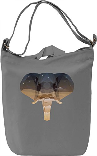 Elephant head Borsa Giornaliera Canvas Canvas Day Bag| 100% Premium Cotton Canvas| DTG Printing|