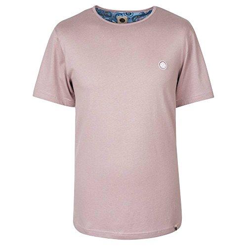 Pretty Green Herren T-Shirt Pink Rosa - Dusty Pink