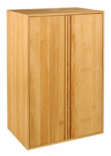 BioKinder 22286 Laura Schrankelement Kinder-Kleiderschrank 2türig aus Massivholz Erle 120 x 80 x 55 cm