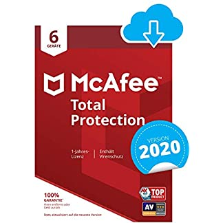 McAfee Total Protection 2020 | 6 Geräte | 12 Monate | PC/Mac/Smartphone/Tablet | Aktivierungscode per Email 1