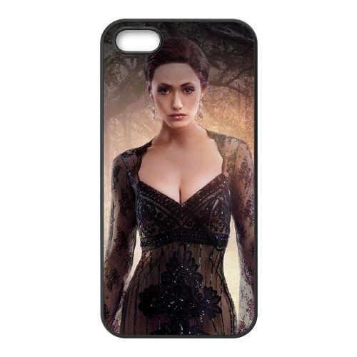 Emmy Rossum In Beautiful Creatures coque iPhone 5 5S cellulaire cas coque de téléphone cas téléphone cellulaire noir couvercle EOKXLLNCD23547