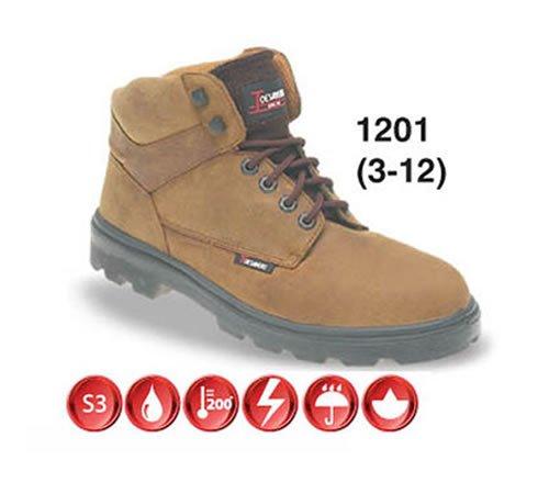 Toesavers 1201-9,0 doppia suola imbottita S3, stivali di sicurezza, misura 9, colore: marrone