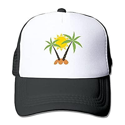 Coconut Tree Men Women Adjustable Snapback Hats Hip Hop Caps | Baseball Caps Mesh Back