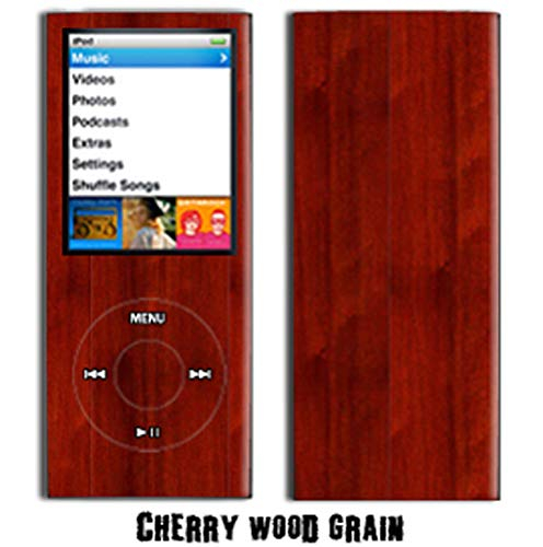- MightySkins Protective Vinyl Skin Decal Cover for Apple iPod Nano 4G (4th Generation) wrap sticker skins - Cherry Woodgrain