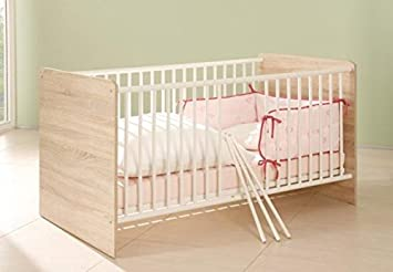 moebel-dich-auf Babyzimmer Komplettset//Kinderzimmer komplett Set Elisa Verschiedene Varianten in Eiche Sonoma//Wei/ß Unterbauregal
