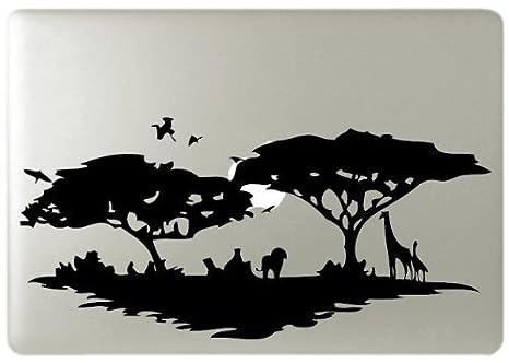 Safari África Silueta MacBook Símbolo Teclado iPhone de Apple IPAD Skin para portátil: Amazon.es: Coche y moto