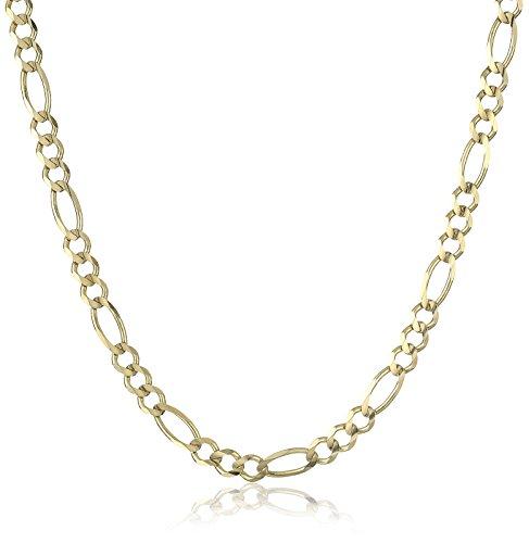 Men's 14k Yellow Gold Italian 4.6mm Figaro Chain Necklace...