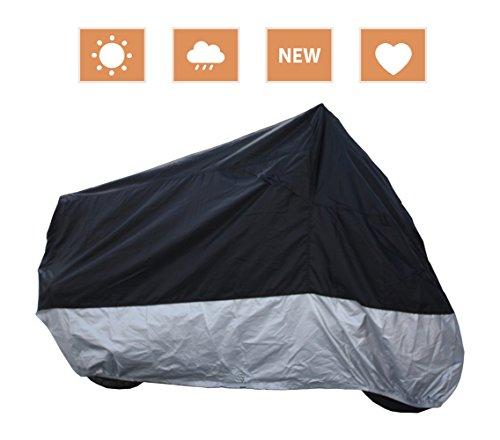 RockyMRanger Breathable Motorcycle Cover Cruisers Touring Bikes Storage (Motorcycle Touring Bikes)
