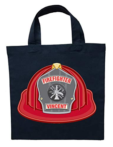 Firefighter Trick or Treat Bag, Personalized Fireman Halloween Bag, Fire Fighter Trick or Treat Bag ()