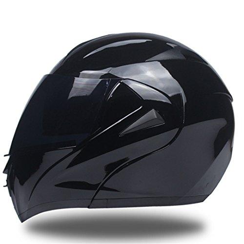 Manngsr Motorcycle Helmet Dual Sunshade Module Flip Motocross Helmet b2 L (Novelty Hawk Helmet)
