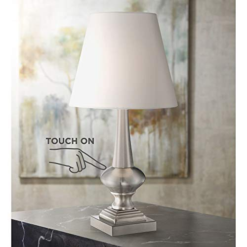 """Brushed Nickel Finish 19"""" High Touch On-Off Table Lamp"""