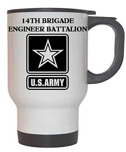 14th Brigade Engineer Battalion - US Army White Stainless Steel Mug, 1027