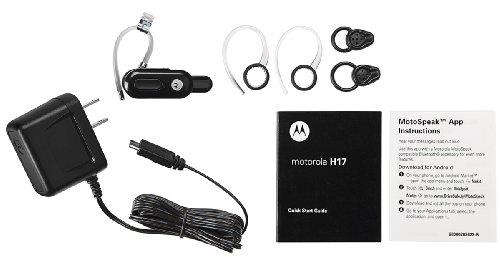 Motorola H17 Universal Bluethoot Heaset MotoSpeak CrystalTalk OEM Black