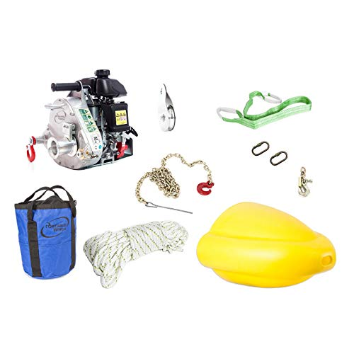 Portable Winch PCW5000-FK Gas-Powered Portable Capstan Winch Forestry Kit