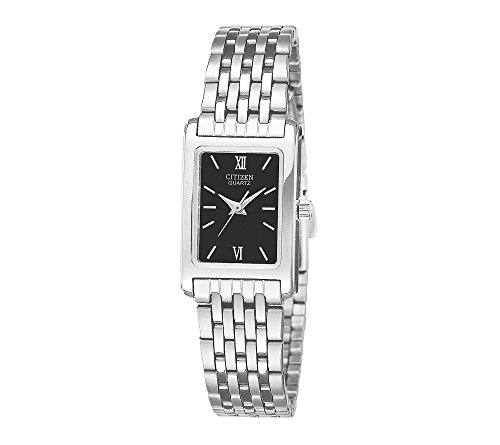 Citizen-Womens-Stainless-Steel-Watch-with-Black-Dial