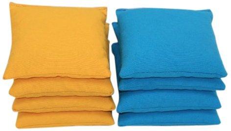 Free Donkey Sports Cornhole Bags (Pack of 8), Yellow/Turquoise, Regular by Free Donkey Sports