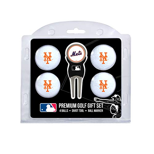 Team Golf MLB New York Mets Regulation Size Golf Balls (4 Count) & Divot Tool with Removable Double-Sided Magnetic Marker (Ball York Mets New)