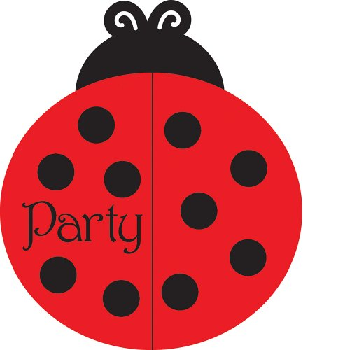 25-Count Party Invitations, Ladybug Fancy