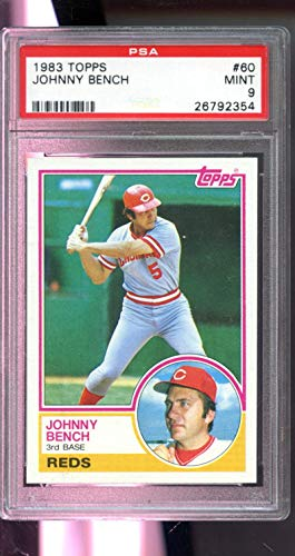 Johnny Bench PSA GRADED 9 (Baseball Card) 1983 Topps - [Base] #60