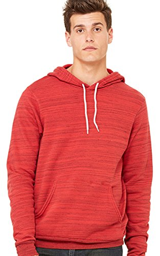 Hooded Pullover Bella (Bella Canvas Unisex Poly-Cotton Fleece Pullover Hoodie - RED MARBLE FLC - L)