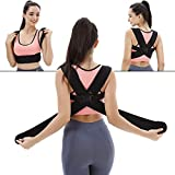 Potou Back Posture Corrector Clavicle Support Brace with Waist Support Wide Straps for Women & Men