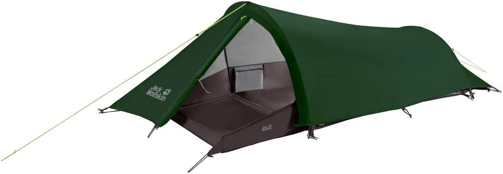dark green one person bivvy tunnel tent