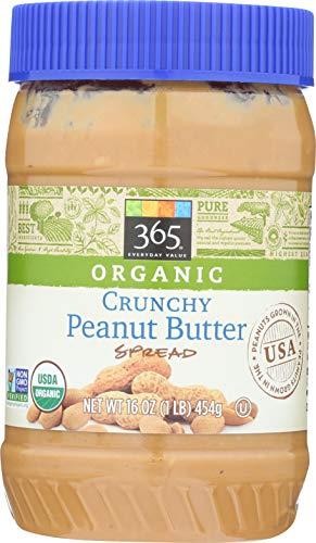 365 Everyday Value, Organic Crunchy Peanut Butter Spread, 16 Ounce
