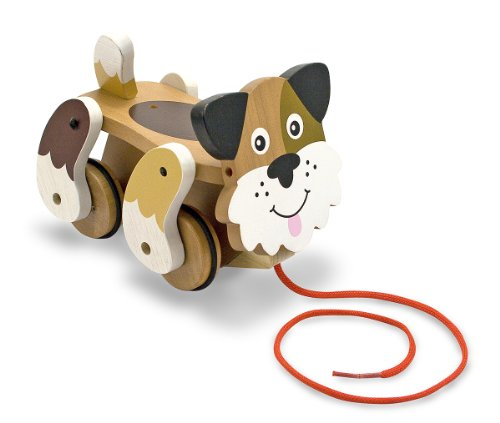 Melissa & Doug Playful Puppy Wooden Pull Toy for Beginner Walkers