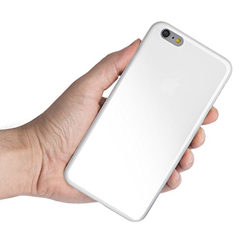 iPhone 6 Plus Case, iPhone 6s Plus Case , Thinnest Cover Premium Ultra Thin Light Slim Minimal Anti-Scratch Protective - For Apple iPhone 6 Plus 5.5 inch | totallee The Scarf (Jet White) (Scarf Plus Iphone For)