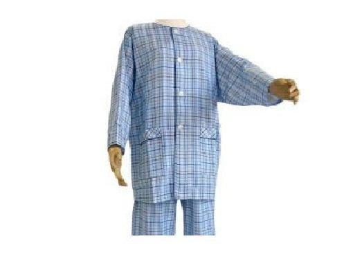 オーガニック衿なしパジャマレギュラーセット (S, ブルー(男性用)) B00YK44KL2 S|ブルー(男性用) ブルー(男性用) S